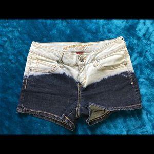 Acid-Dipped Arizona Denim Shorts
